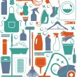 Stock Vector: Cleaning icon set.