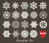 Snowflake set. — Stock Vector