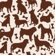 Stock Vector: Dogs seamless pattern