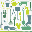 Stock Vector: Garden set icons