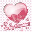 Card be my valentine. — Vector de stock  #37123377