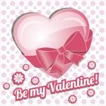 Card be my valentine. — 图库矢量图片