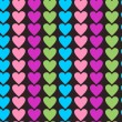 Stock Vector: Multicolor hearts background