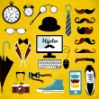 Stock Vector: Hipster set.