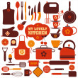 Kitchen icon set — Stock Vector
