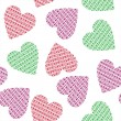 Seamless pattern with hearts — Stock Vector #37123619