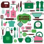 Kitchen set icon. — Stock Vector