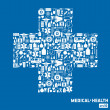 Medical icon background. — Stock Vector #37123757