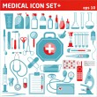 Stock Vector: Medical icon set.
