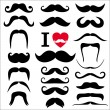 Moustaches set. — Stock Vector #37123977