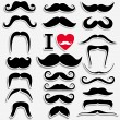 Moustaches set. — Stock Vector #37123985