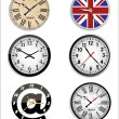 Time and clock set. — Stock Vector