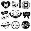 Valentine labels. — Stockvector #37124303