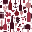 Wine seamless background. — Stock Vector