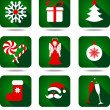 Stock Vector: Christmas icon set.