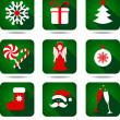 Christmas icon set. — Stock Vector