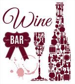 Wine bar menu card — Stock Vector