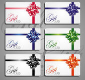 Gift card set.Different nominations — Stockvector