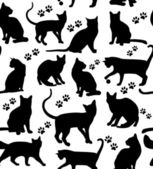 Seamless cats background — Stock Vector