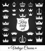 Crown set . — Stock Vector