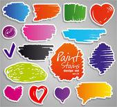 Paint stains set — Vector de stock