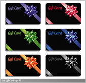 Gift card set. — Vettoriale Stock