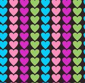 Multicolor hearts background — Stock Vector