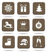 圣诞节图标集 — 图库矢量图片