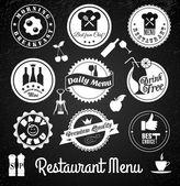 Restaurant label set — Stock Vector