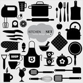 Kitchen icon background. — Stock Vector