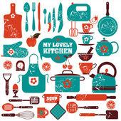 Kitchen icon set — Stock Vector