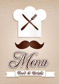 Menu.Chef,kitchen,cooking. — Stock Vector