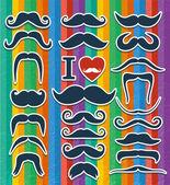 Moustaches set. — Stock Vector