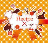 Recipe illustration. — Stock Vector