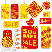 Summer sale set — Stock Vector