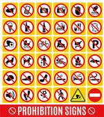 Prohibition set. — Stock Vector