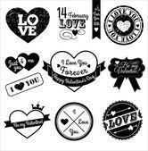Valentine labels. — Stock Vector