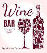 Wine menu background. — Stock Vector