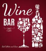 Wine background. — Stock Vector