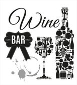 Wine bar menu card — Stock Vector