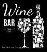 Wine card. — Stock Vector