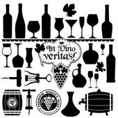 Wine set. — Stock Vector