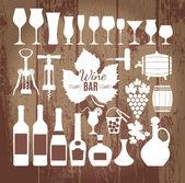 Wine set icon. — Stock Vector