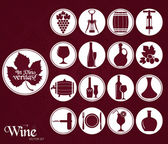 Wine set icon. — Stock Vector