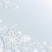 Christmas snowflake background. — Stock Vector