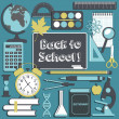 Vector de stock : School background.