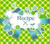 Recipe illustration. Kitchen bakcground. — Stock Vector