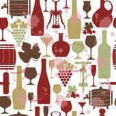Wine seamless background. — Stock Vector
