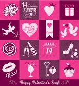 Valentine set background — Stock Vector