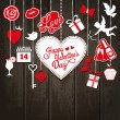 Valentine background — Vettoriale Stock #39365357
